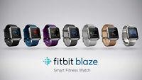 Fitbit Blaze Smart Fitness Super Watch Black Blue Plume Small & Large