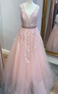 SHERRI HILL STYLE ENVIOUS COUTURE TULLE PROM BALLGOWN IN PINK BNWT
