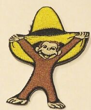 """CURIOUS GEORGE IN BIG YELLOW HAT EMBROIDERED 3"""" PATCH"""
