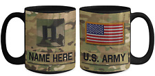 US Army Personalized Officer Mug|Captain (O3) Army Gift for Dad/Mom/Son/Daughter