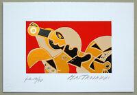 """Umberto MASTROIANNI - """"Composizione"""" (c), 1992 - Serigrafia / ed. Publiart"""