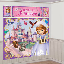 Sofia The First Birthday Party Wall Scene Setter 6 ft Decoration 5pc Disney