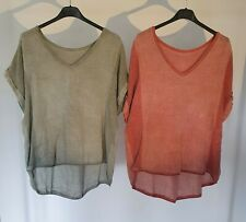 LADIES NEW ITALIAN LINEN TOP. O/S.