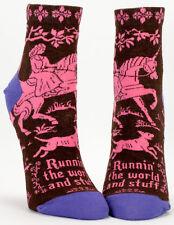 Blue Q Runnin' the World and Stuff Women's Casual Sock (5-10)