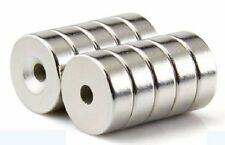100pcs Ring Countersunk Strong Magnets Neodymium 12mm X 5mm Hole 4mm Rare Earth