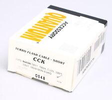 NEW -- QUANTUM TURBO FLASH CABLE SHORT -- CCK -- FOR NIKON SB24 SB28 US