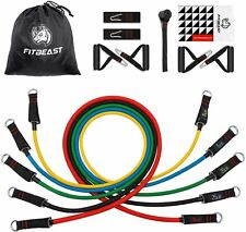 Complete Resistance Bands Set Exercise Home Gym Fitness Workout Portable NEW