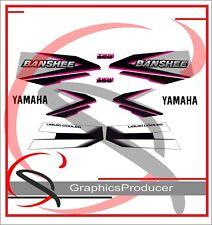 Yamaha Banshee Decals Sticker Reproduction Red  Black Pink 1998 Full Set Design