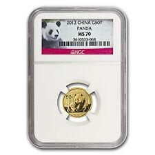 2012 China 1/10 oz Gold Panda MS-70 NGC - SKU #67373