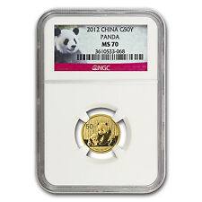 2012 1/10 oz Gold Chinese Panda Coin - MS-70 NGC