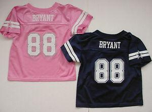 NWT Dez Bryant 88 Jersey Toddler Girl Dallas Cowboys Baby MESH Sz 2T