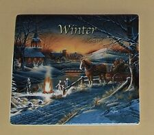 Terry Redlin's Seasons in Time Clock Collection Plate Winter #2 Mib Coa Tile