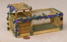 1:12 Scale Empty Wooden Pet Hutch Dolls House Garden Rabbit Chicken Accessory Sq