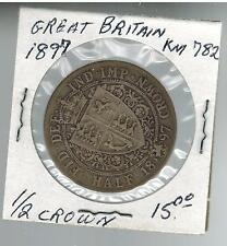 1897 Great Britain 1/2 Crown KM 782 Silver Coin