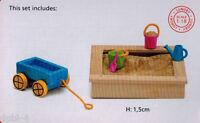 Lundby 60.5096 Smaland Sandkasten Set für das Puppenhaus 1:18