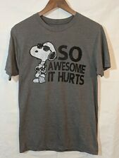 Peanuts Snoopy T-Shirt Size Small. Color Gray - So Awesome It Hurts