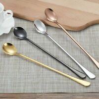 Stainless Steel Long Handle Teaspoon Stirring Tea Coffee Ice Cream Spoon Drink n