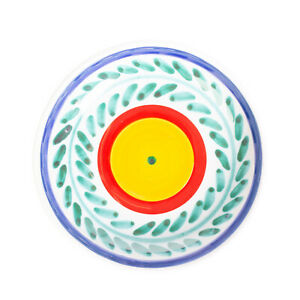 CERAMICHE DE SIMONE SELINUNTE Soup Plate HANDMADE Ceramic Round Made in Italy