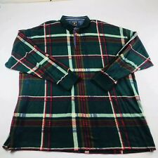 Chaps Ralph Lauren Vintage Flannel Green Red Yellow Plaid Mens Size 2XL Tall