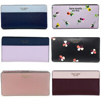 Kate Spade Cameron Large Slim Bifold Wallet Pink Blue Black Floral