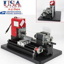US Mini Wood Lathe Motorized Machine DIY Tool Metal Woodworking 12V DC 24W Safe