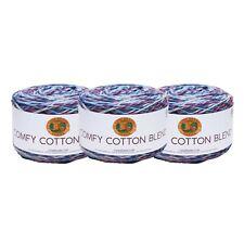Lion Brand Yarn 756-708 Comfy Cotton Blend Yarn, Cloud Nine (Pack of 3 Cakes)