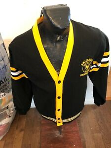 MENS Medium Barbarian Rugby Button Up Cardigan Dalhousie University Halifax NS