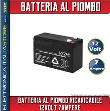 BATTERIA RICARICABILE AL PIOMBO 12V 7.5A 7,2A 7A PER UPS ANTIFURTI E ALTRO