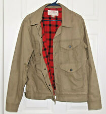 Filson Short Cruiser Waxed Cotton men's jacket size M made in USA Tan No Reserve