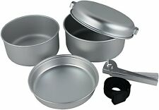 Yellowstone Aluminium 5 Piece Cook Set Camping Cooking Fishing