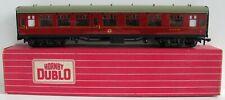 More details for hornby dublo oo gauge 2/3 rail 4052 br maroon composite corridor coach e15770