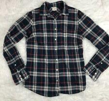 J Crew Classic button down shirt Plaid Perfect Fit Womans Sz S Factory