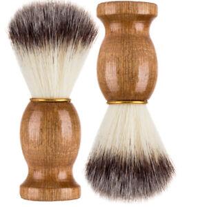 Synthetic Bristle Men Shaving Brush Barber Salon Facial Beard Mustache Cleaning