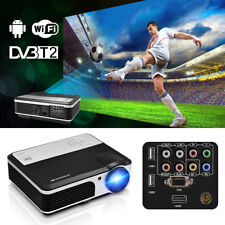 HD Android Wifi DVB-T2 Video Projector Home Cinema Digital TV HDMI USB HD 1080p