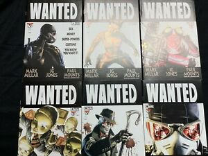 WANTED #1-6 Complete Set Mark Millar J.G. Jones LOT of 6 Top Cow Comics 2003 NM
