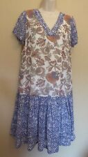 Monsoon UK10 EU38 US6 new multi-coloured chiffon short-sleeved Cleo dress