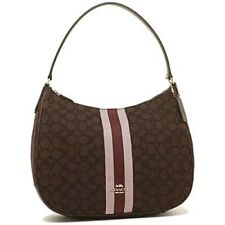 NWT Coach 39042 Signature Jacquard Top Zip Tote Khaki Brown Hobo  Bag