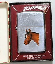Zippo Lighter Town And Country Horse Head Enamel Lighter W/Box