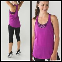 Lululemon Intrinsic Tank Ultra Violet / Mini Cherry Cheetah