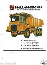 Equipment Brochure - Haulamatic - 615 - On Off Highway Dump Haul Truck (E3111)
