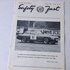 Safety Fast MG Car Club Magazine David Franklin RAC October 1980 070217nonrh
