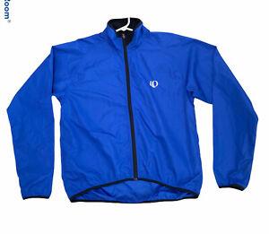 Pearl Izumi Men's Zip Up Windbreaker Cycling Jacket Size L Polyester -FLAW -