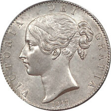 Great Britain 1847 Victoria Young Head Silver Crown CGS 75