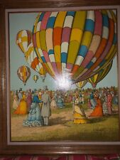 "H. HARGROVE ""HOT AIR BALLOONS"" - 24"" X 20"" FRAMED SERIGRAPH SIGNED"
