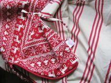 Target Wondershop Reversible Tree Skirt Reindeer Snowflake Knit Stripes Muslin
