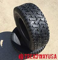 2 New 20X8.00-8 4 Ply Deestone D265 Turf Lawn Mower Tires    20x8-8 20 8 8