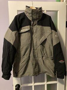 Nice Columbia Titanium Omni Tech Mens Size Large Grey Black Ski Jacket