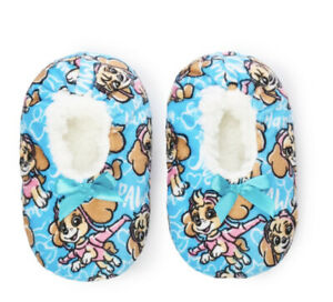 Nickelodeon Paw Patrol Girls Size 8-10 Fizzy Babba Slipper Socks New with Tags
