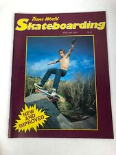 Rare Vintage April May 1984 Transworld Skateboard Magazine Mint Condition