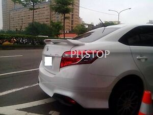 Toyota YARIS Sedan 4D VIOS 2013-2014 ABS LED TRD Rear spoiler-Unpainted